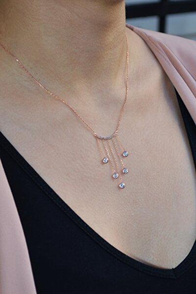 Kadın Sallantılı Gümüş Işıltı Kolye N115601