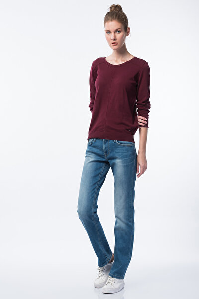 Girl Oregon Kadın Jean Pantolon Mavi