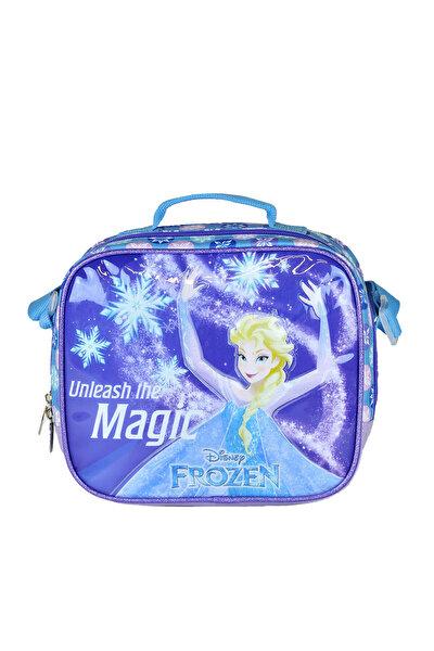 Frozen 95237 Mor Mavi Kız Çocuk Beslenme Çantası 100378551