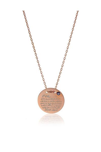 Kadın 925 Ayar Gümüş Mini Ayetel Kürsü Kolye SGTL5799