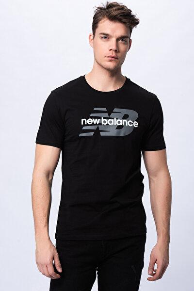 Erkek T-shirt - Font Logo TEE - V-MTT910-BK