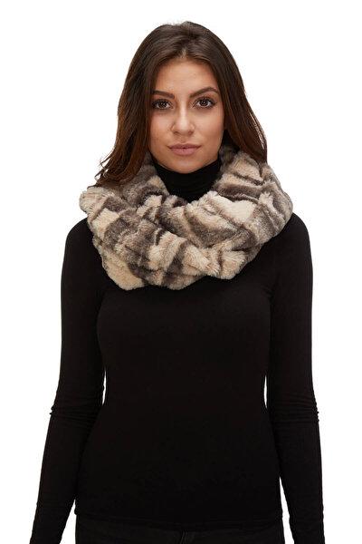 Kadın Kürk Kürk Boyunluk Kışlık Kışlık Bej 11001