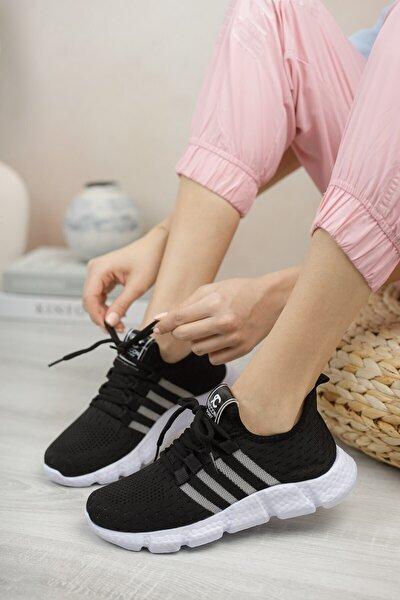 Unisex Siyah Beyaz Sneaker 0012370
