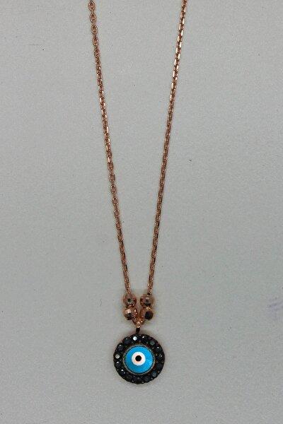 Kadın Nazar Rose Gümüş Kolye TGK0199