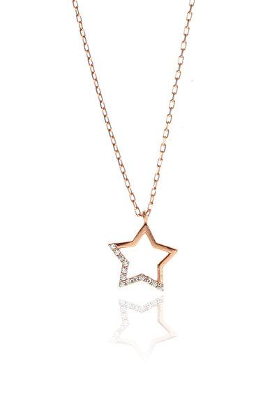 Kadın Gümüş Yıldız Kolye SGTL9134