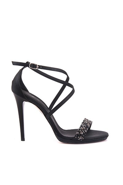 Sıyah Kadın Klasik Topuklu Ayakkabı  161Tck456 617
