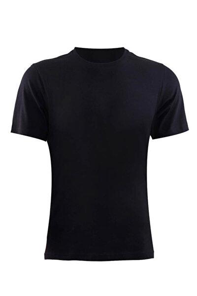 Erkek Siyah Loose Fit T-Shirt 9218