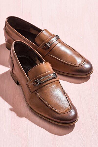 GONZALES Hakiki Deri Taba Erkek Ayakkabı