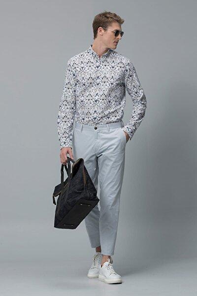 Erkek Comfort Slim Fit Rodonit Spor Gömlek Lacivert 111010081100200