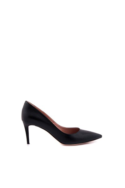 Kadın Siyah Hakiki Deri Topuklu Ayakkabı 152TCK557 21694