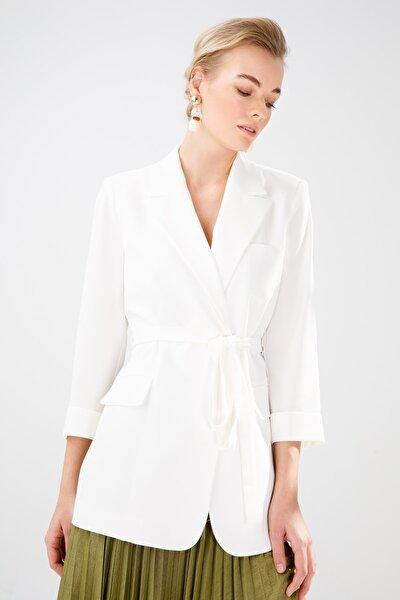 Kadın Ekru Blazer Ceket