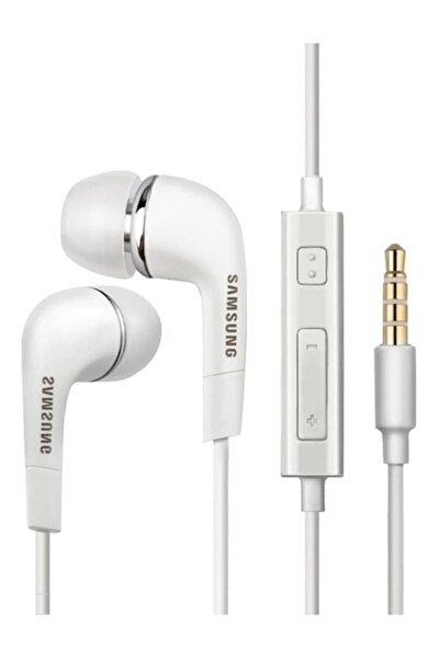 Beyaz Silikonlu Kulak İçi Mikrofonlu Kulaklık