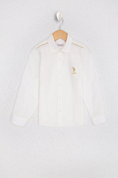 Beyaz Kız Çocuk Dokuma Gömlek
