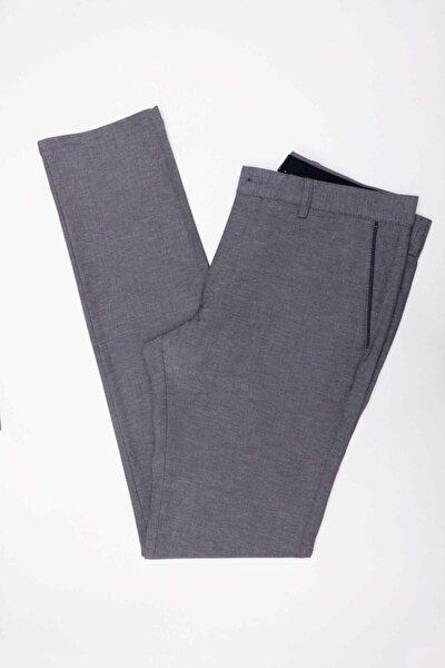 Erkek Gri Ekstra Slim Pantolon