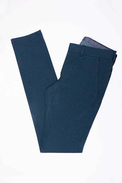 Erkek Lacivert Ekstra Slim Pamuk Pantolon