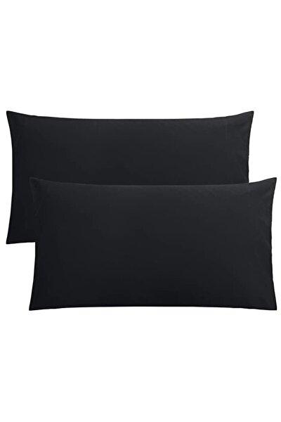 Stella Flavo 2'li Yastık Kılıfı 50x70+20cm Kapaklı Siyah