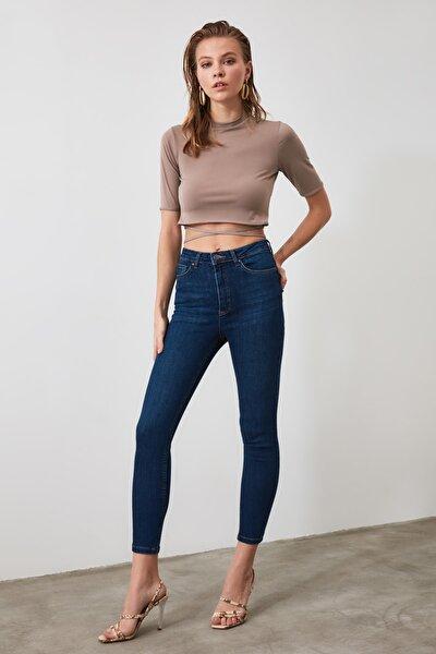 Lacivert Yüksek Bel Push Up Skinny Jeans TWOAW21JE0205