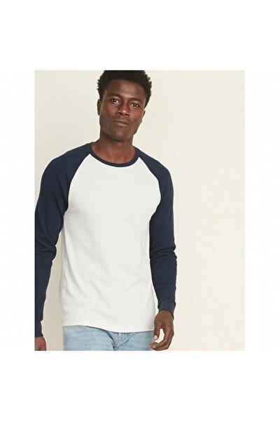 Erkek Uzun Kollu Beyaz T Shirt 000353
