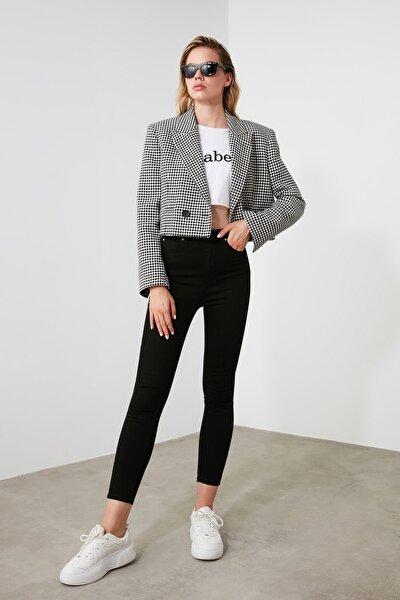 Solmayan Siyah Yüksek Bel Skinny Jeans TWOSS19LR0279