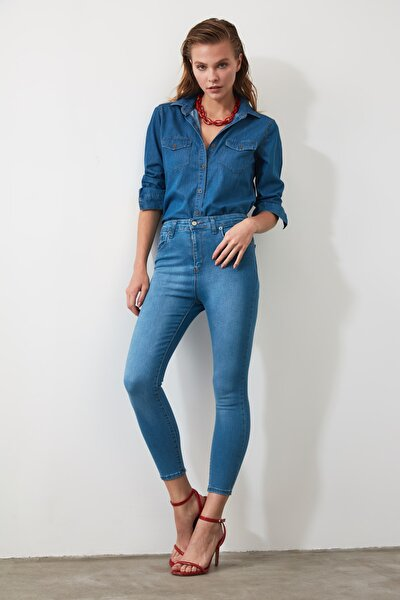 Mavi Yüksek Bel Skinny Jeans TWOSS20JE0302