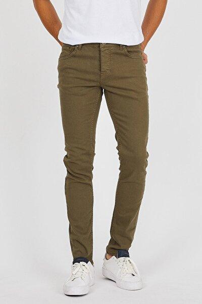 Erkek Haki Slim Fit Pantolon