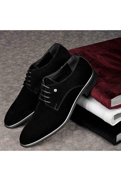 Erkek Siyah Düz Süet Klasik Ayakkabı