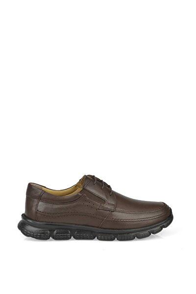 Erkek Kahverengi Taban Detaylı Ayakkabı