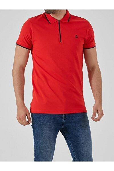 Erkek  Kırmızı Polo Yaka T-Shirt 0122084075609440000