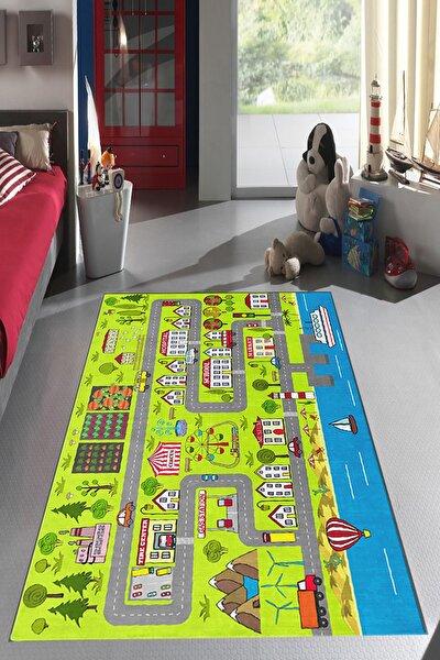 Dekoratif Özel Tasarım Ince Yıkanabilir Leke Tutmaz Çocuk Halısı