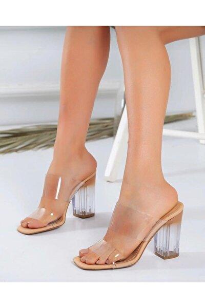 Kadın Bant Şeffaf Topuklu Ayakkabı Asl3698