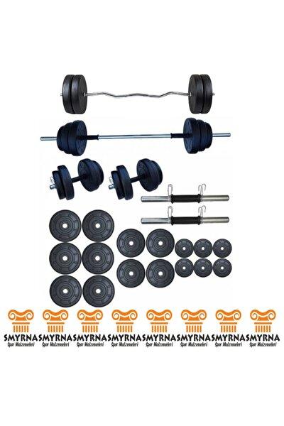 85 Kg Halter Seti Ve Dambıl Seti Ağırlık Fitness Seti + Z Bar