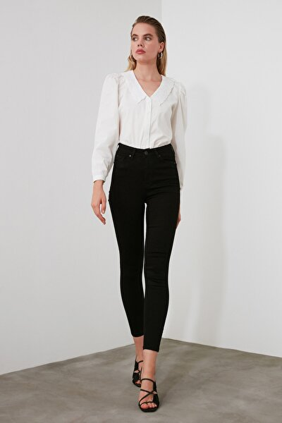 Siyah Yüksek Bel Skinny Jeans TWOAW21JE0251