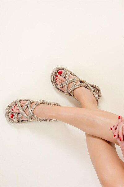 Kadın Bej Ten Sandalet F470135104