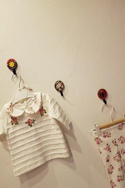 Kız Bebek Beyaz Çiçekli İkili Takım
