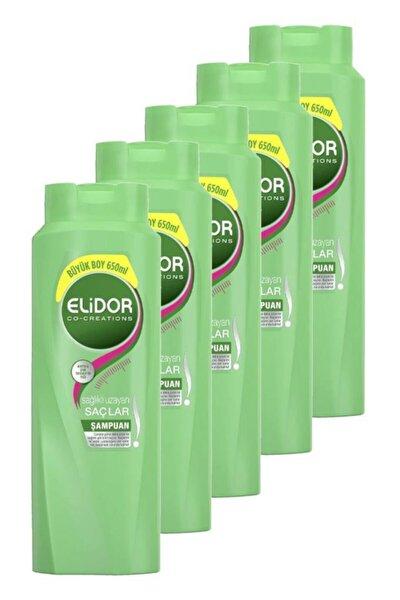 Şampuan Sağlıklı Uzayan Saçlar 650 Ml. Beşli Set