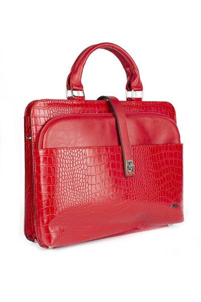 Kadın Evrak Laptop Çantası Kırmızı