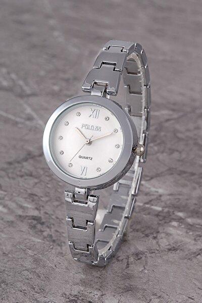 Plkm011r01 Kadın Saat Taş Detaylı Kadran Şık Metal Kordon