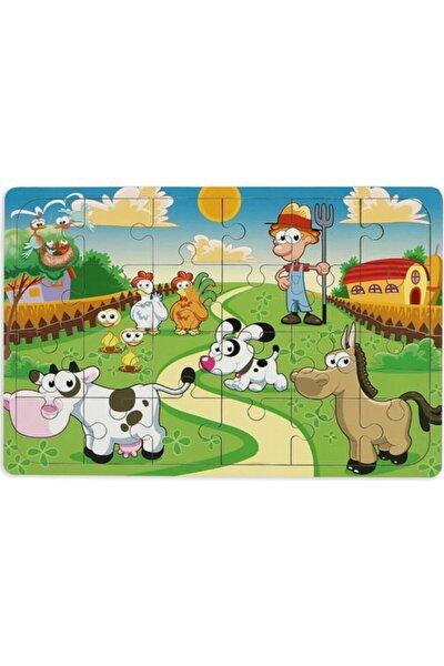 Çiftliğim 24 Parça Ahşap Puzzle