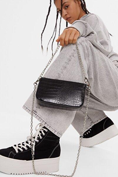 Kadın Siyah Suni Deri Çanta