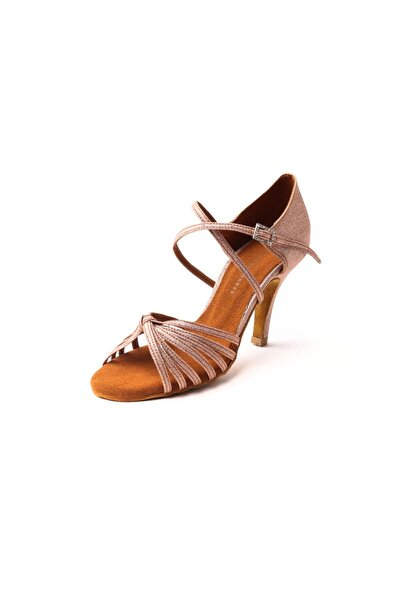 Kadın Kum Parlak Ambrossia Mole  Topuklu Ayakkabı