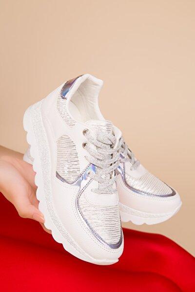 Beyaz Kadın Sneaker 15233