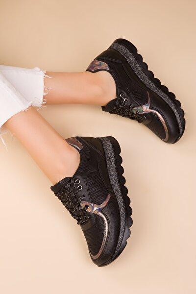 Siyah Kadın Sneaker 15233
