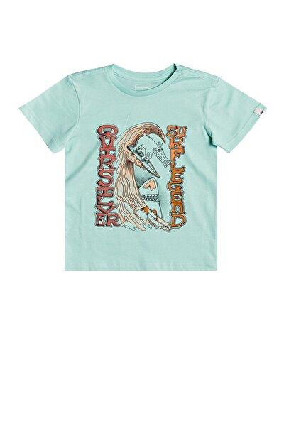 Çocuk Turkuaz Baskılı T-Shirt