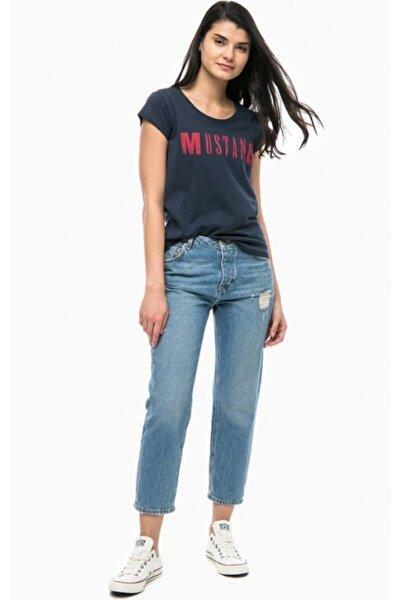 Kadın Lacivert Klasik Logo  T-shirt