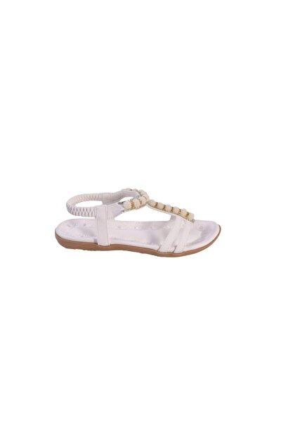 Beyaz Kadın Sandalet bzm0000001706