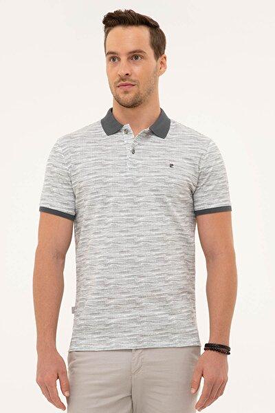 Erkek Koyu Gri Slim Fit Polo Yaka T-Shirt