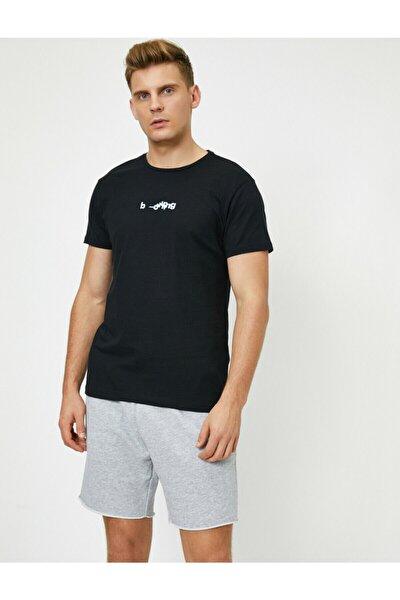 Erkek Siyah T-Shirt 0YAM11904HK
