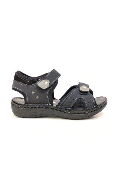 Erkek Çocuk Siyah Hakiki Deri Sandalet