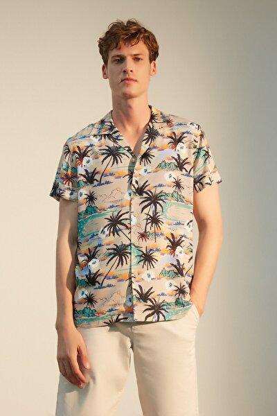 Erkek Multi Renk Baskılı Regular Kesim Gömlek 1217339