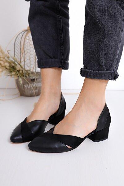 Leslie Kadın Siyah Süet Topuklu Ayakkabı